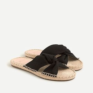 New J. Crew Twisted Knot Canvas Espadrille Sandals